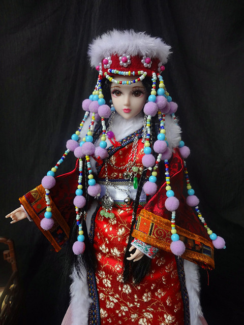 """Free Shipping 12"""" Vintage Chinese Princess Dolls Home Decoration Crafts Ornament Pretty Girl Toys For Valentine Day 361"""