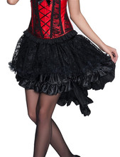 SK44 Steampunk Gothic  large pendulum Women Multi Layered High Low Outfits court corset collocate Tail-swinging mesh Skirt