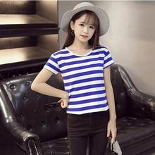 Fashion Solid Women Girl Black/White U/V Neck Casual T-shirts Sexy Tops&Tees