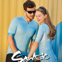 Santic Men Women Cycling Jersey Short Sleeve Race Fit Bike Shirt Summer Breathable Jerseys Couple