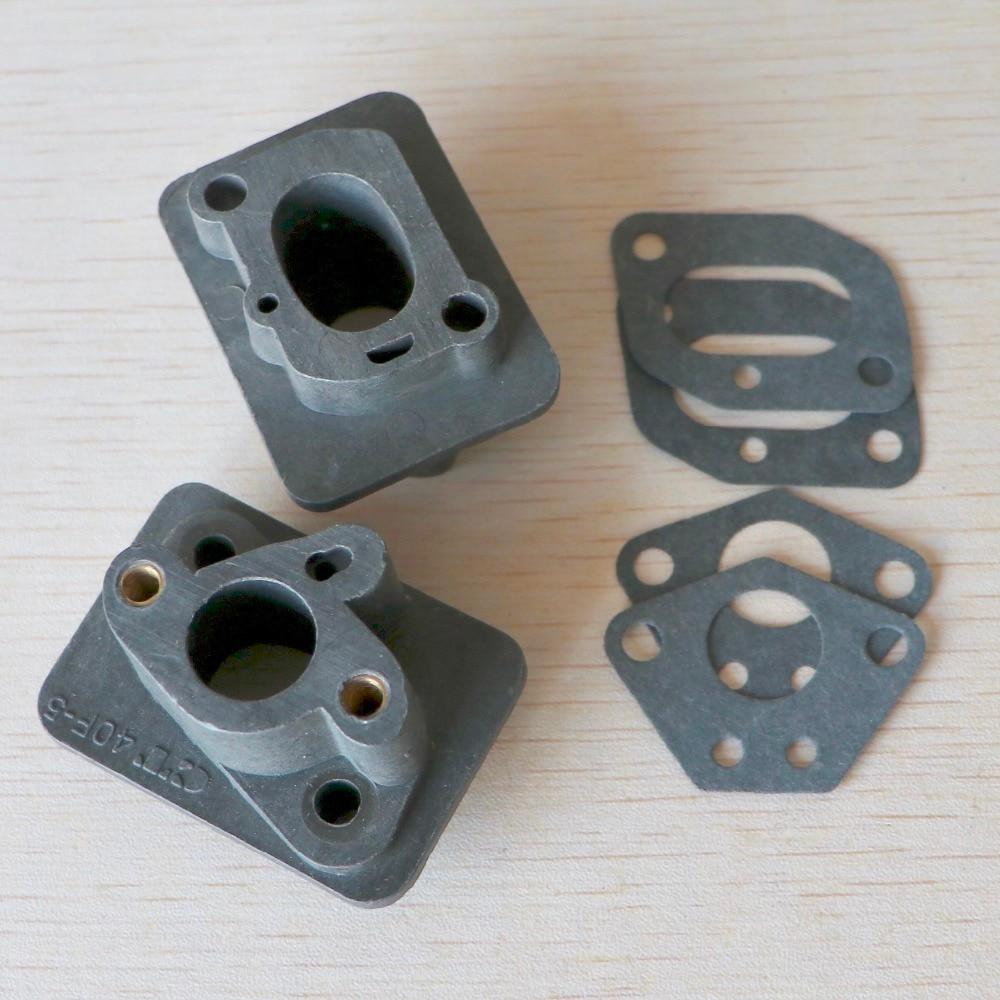 2pcs 40-5 43CC 52CC Brush Cutter Intake Manifold Carburetor Base Connector,admitting Pipe,carb Adaptor