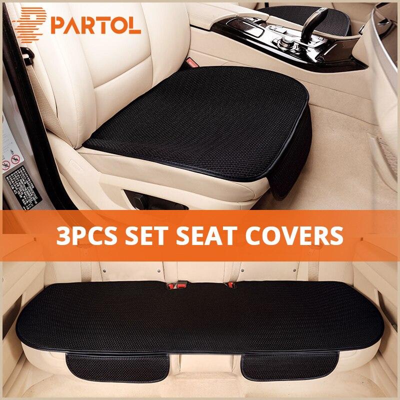 Partol Universal Auto Sitzbezüge Atmungsaktiv Auto Seat Protector Vorne Hinten Automobil Sitz Abdeckung Kissen Pad Matte Zubehör
