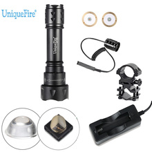 UniqueFire Tactical Lamp Torch T20 IR 940NM LED 38mm Convex Len Flashlight Infrared Light Torch Kit Set For Night Hunting