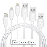 Delippo Dla Apple MFi Certified 3 Paczka-1 M/stopy Ładowarka USB i Kabel do Synchronizacji iPhone Bardzo trwałe