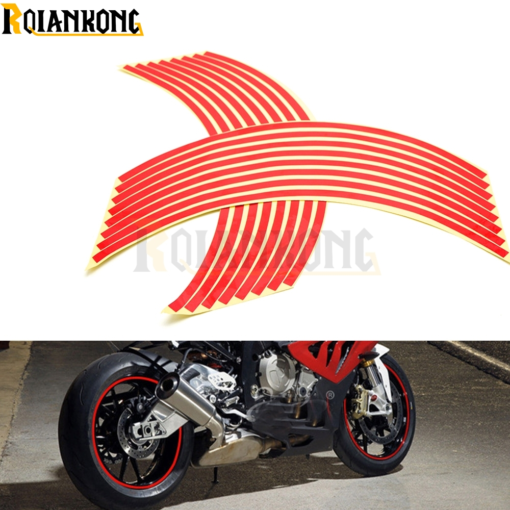For SUZUKI GSX-S750 GSX-S GSX 650F 750 1000 1250 1400  Motorcycle Sticker Colorful Motor Wheel Stickers Reflective Rim Strip