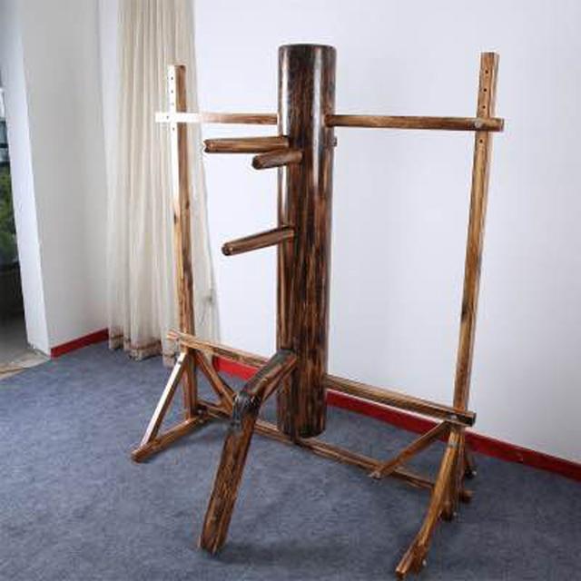 4 цвета Кунг Фу твердой древесины дутики Ip Человек Обучение Деревянный Манекен высота переставное крыло chun деревянный манекен с рамки