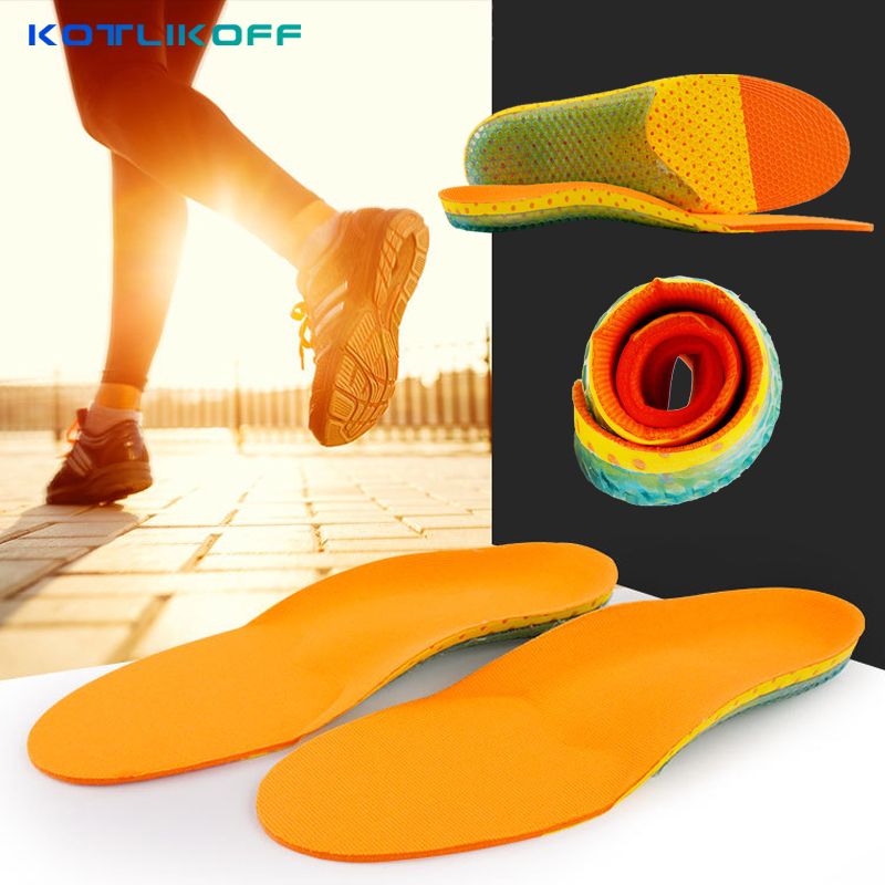 KOTLIKOFF shoes pad Foot Care for flat foot arch support orthotic Running Sport Insoles Shock Absorption Pads shoe inserts 2016 1 pair large size orthotic arch support massaging silicone anti slip gel soft sport shoe insole pad for man women