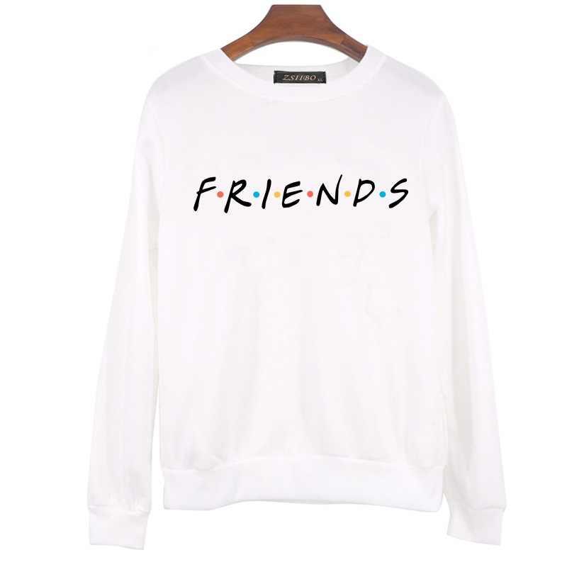 أزياء النساء طويل كم الأصدقاء هوديس عارضة الخريف الشتاء البلوز زائد رشاقته المتناثرة السترة قميص WY07 R