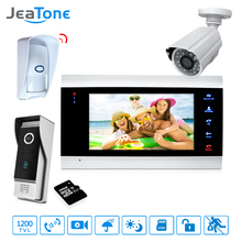 7'' Video Door Phone Intercom Doorbell Intercom With Extra Waterproof Camera/PIR/32G Card Access Control System Motion Detection цена 2017