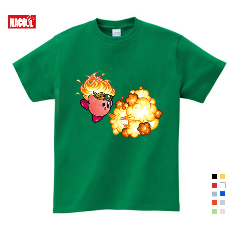 2019 Kirby Game Children T shirt Pure Cotton Short Sleeve Round Neck Shirt Children Clothes High Quality Baby T shirt 3T 9T in T Shirts from Mother Kids