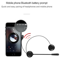 Hot Motorcycle Helmet Bluetooth Headset Earphone Stereo Music GPS Noise Reduction JLD