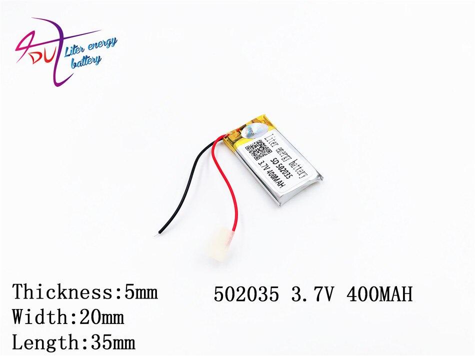 Liter Energie Batterie 3,7 V Lithium-polymer-batterie 522035 502035 052035 400 Mah Mp3 Stimme Recorder Batterie Digital Batterien