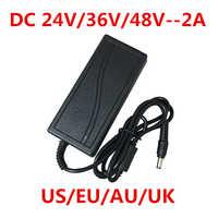 1 pièces 100-240 V AC à DC adaptateur d'alimentation chargeur adaptateur convertisseur 24 V 36 V 48 V 2A EU US UK AU Plug 5.5mm x 2.5mm 24 volts