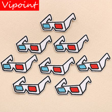 VIPOINT embroidery glasses patches film badges applique for clothing XW-33