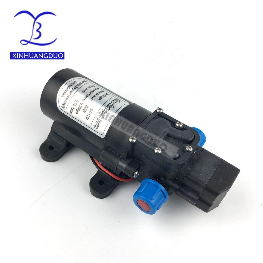 DC 12V 24V 80W Diaphragm Water Pump High Pressure Micro Diaphragm Water Pump Automatic Switch For RV Boat 5.5L/minDC 12V 24V 80W Diaphragm Water Pump High Pressure Micro Diaphragm Water Pump Automatic Switch For RV Boat 5.5L/min