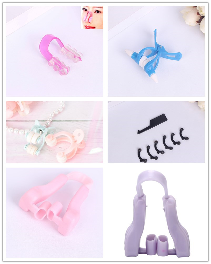 7PCS/1PCS Beauty Nose Up Lifting Bridge Shaper Massage Tool No Pain Nose Shaping Clip Clipper Women Girl Massager