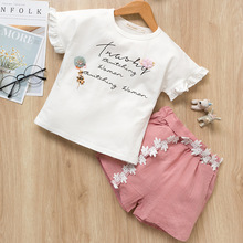 2019 New Summer Girls Clothes Sets T Shirts And Shorts 2 Pcs For Age 2-7 Years Fashion Design