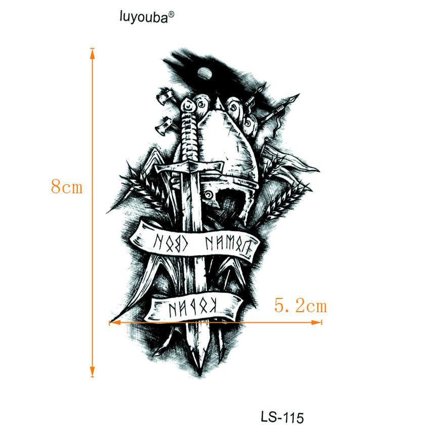 Nieśmiertelny rycerz wodoodporne tymczasowe tatuaże mężczyźni wojownik Tatouage Temporaire Femme Tatoo tymczasowe naklejki