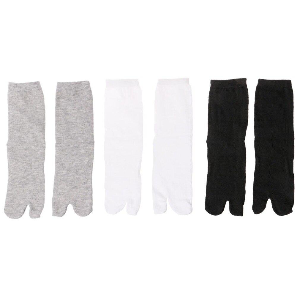 ZLROWR Men Women Socks Split Two Toe Japanese Style Kimono Geta Flip Flop Correction