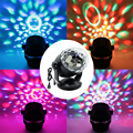DC12V USB Sound Activated Crystal Rotating RGB LED Stage Lights for Car KTV Xmas Party Wedding Show Pub Disco Effect