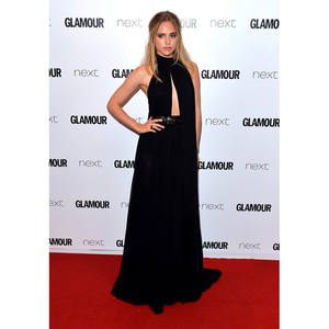 Celebrity-Dresses Carpet Galajurk Chiffon Black Formal Long Lang Suki Abendkleider Waterhouse