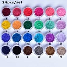 24 Colors/Lot  Nail Sticker Decoration Polish Nail Art DIY Tips Design Velvet Flocking Dust Powder Face GEMS Velvet Powder CPB11