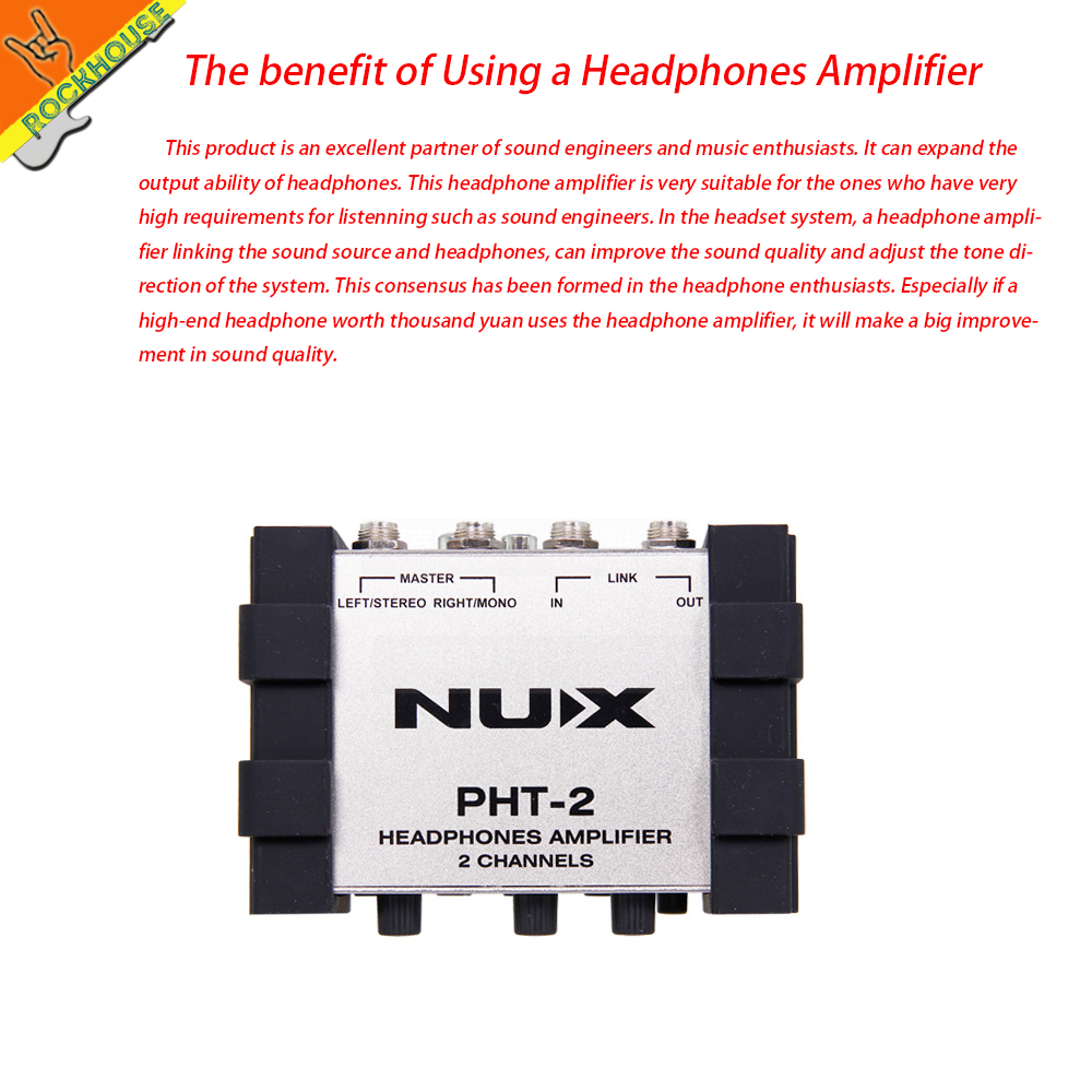 ФОТО NUX PHT-2 Electric Acoustic Guitar Headphone amplifier earphone Amp guitarra sound studio Recording earphone AMP free shipping