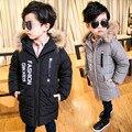 Англия стиль Мальчики Куртка Для Детей Зимние Куртки для Мальчиков Вниз куртки Пальто Теплые Дети Ребенок Толстый Хлопок Пуховик Холодной зима