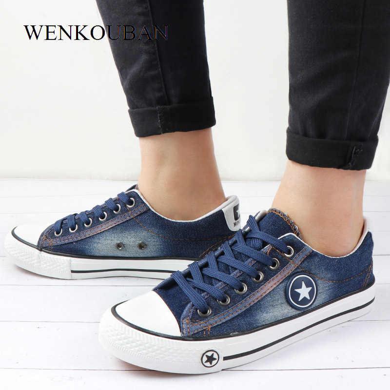 89225a886d15d Moda estrellas zapatos de lona de las mujeres zapatillas de deporte Zapatos  casuales Retro verano transpirable
