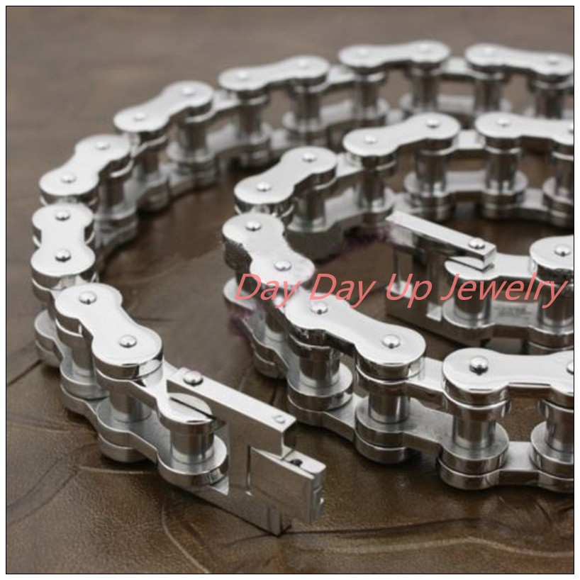 24*20mm 400g Heavy Huge Cool Jewelry 316L Stainless Steel Silver Motorcycle Chain Biker Jewelry Men's Necklace Christmas Gift 22cm 17mm 316l stainless steel green yellow colors motor bangle jewelry huge heavy men motorcycle biker chain bracelet for boy