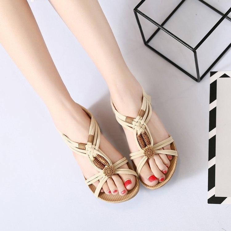 bcb621e9d42 Aliexpress.com   Buy HIZCINTH 2018 Summer Sandals Women Bohemia Beaded Flat  Flip Flops Open toed Casual Rome Sandalias Femininas Shoes Woman Sandali  from ...