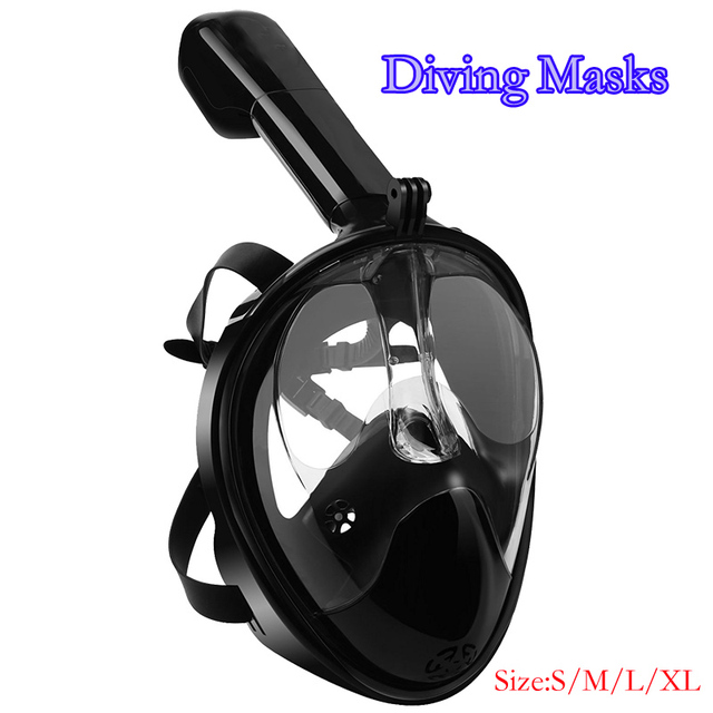 4d483ed01 Seguro Rosto Cheio Máscara de Mergulho Scuba Desportos Aquáticos Mergulho  Submarino Snorkel óculos de Natação Anti