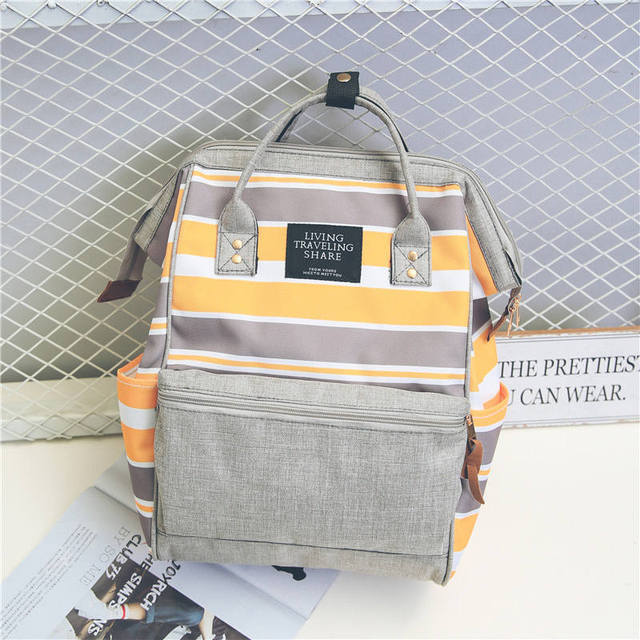 Female Waterproof Laptop Backpack Canvas Travel Bag Candy Color Cute Mummy Backpacks Woman Casual School Bags For Teenage Girls