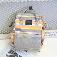 Mochila impermeable para ordenador portátil para mujer, bolso de viaje de lona, Color caramelo, bonitas mochilas para mamá, mochilas escolares informales para adolescentes
