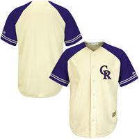 MLB Men S Colorado Rockies Baseball Cream Blue Fashion Cool Base Ivory Team Jersey