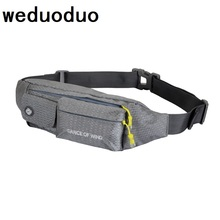 Weduoduo Unisex waist pack men waterproof fanny Lightweight bag women belt bum male phone wallet Pouch Bags