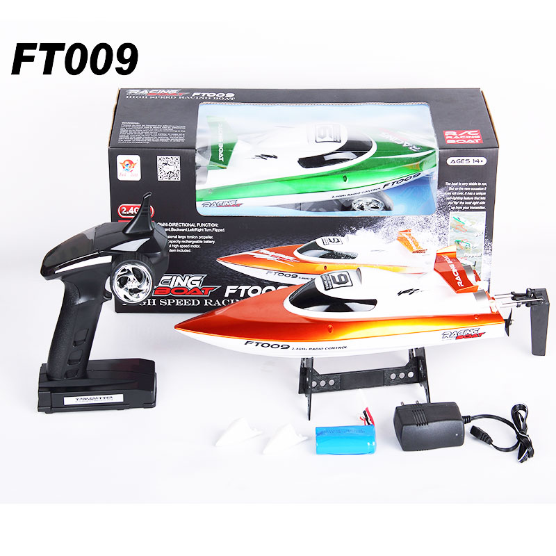 High Speed Racing RC Boat FT009 2 4G 4CH Radio Control Boat With Rectifying Function Water