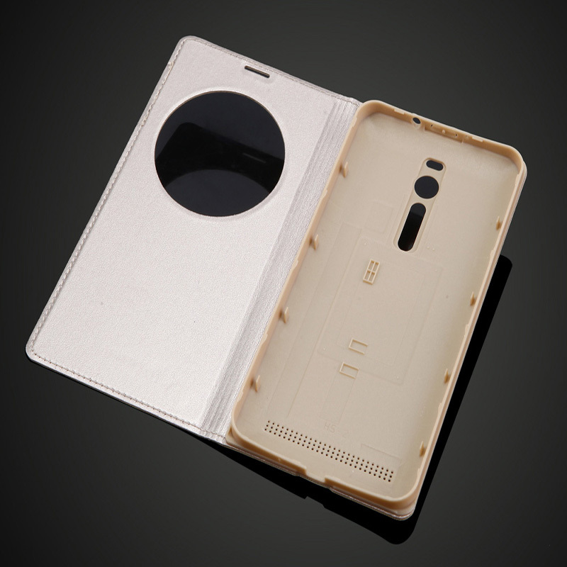 new arrival fb5b6 b81ed US $1.97 30% OFF for ASUS Zenfone 2 5.5inch View Window Quick Circle Case  Battery Back Cover Flip Leather Case for ASUS Zenfone 2 ZE551ML ZE550ML-in  ...