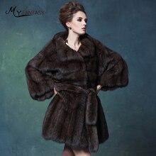 Фотография M.Y.FANSTY Luxury Collections Russian Full Sky Stars Purple Mink Full Mink Coat Fur Coat Female Strongly Recomm Short Women Coat