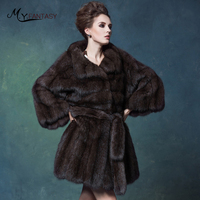 M.Y.FANSTY Luxury Collections Russian Full Sky Stars Purple Mink Full Mink Coat Fur Coat Female Strongly Recomm Short Women Coat