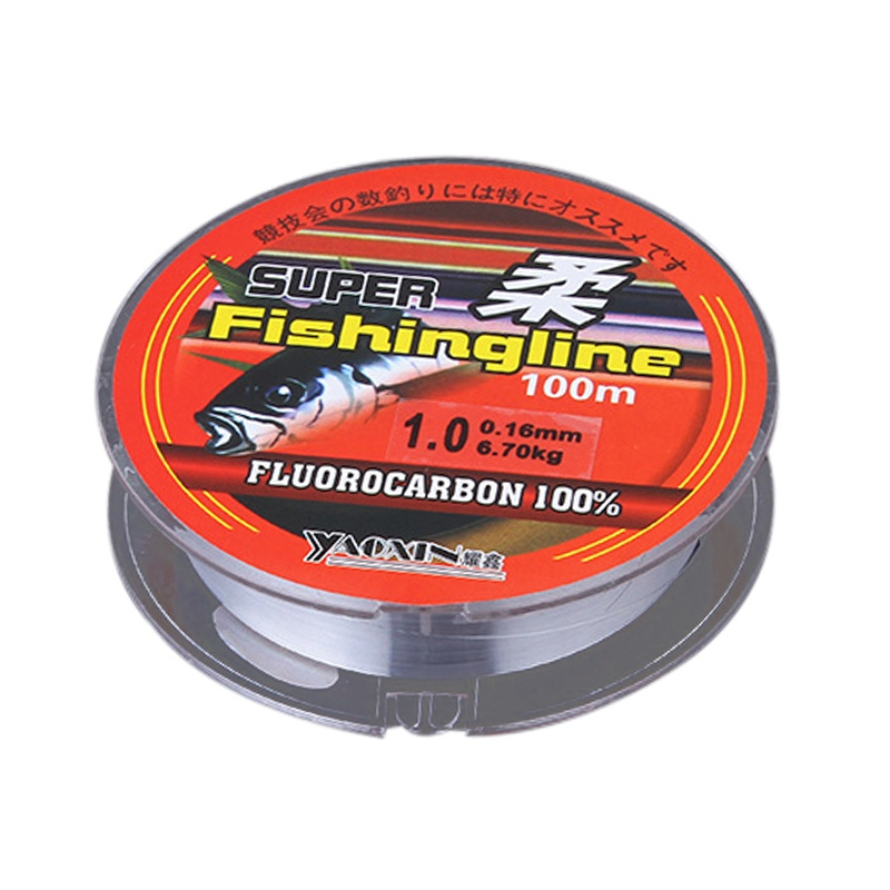 Fishing 100% Transparent Nylon Fluorocarbon Fishing Line Super Strong  100 m  Fishing Tackle Non-Linen Multifilament New