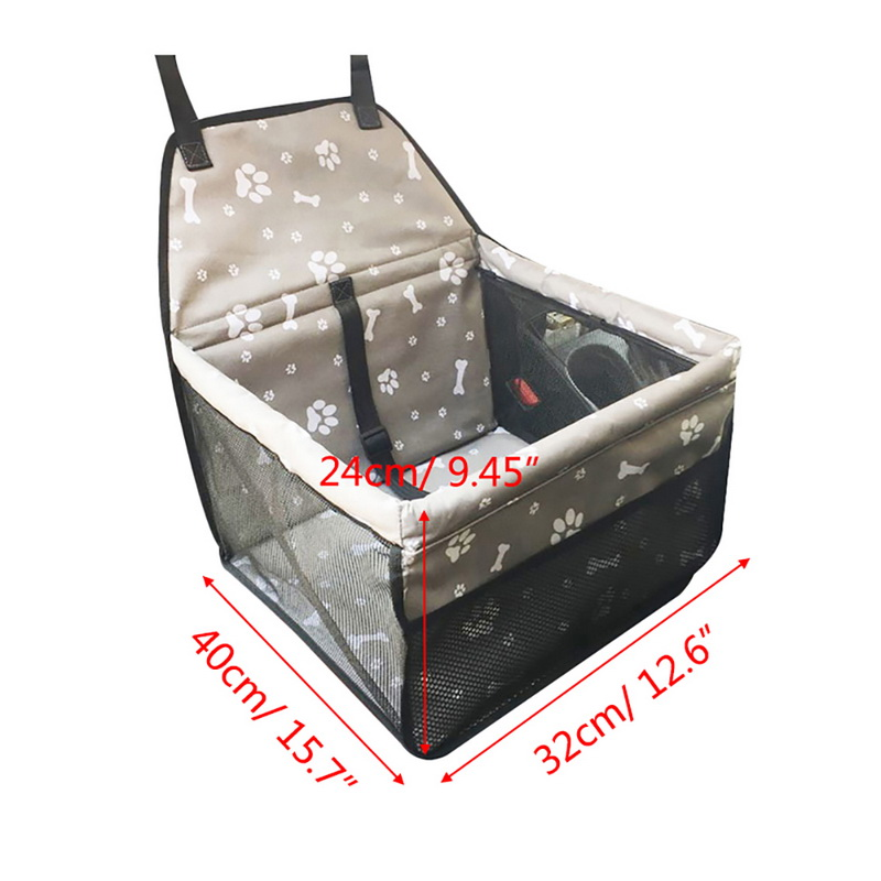 dog car seat carrier dimensions