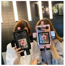 Kreative Laser Roboter Bunte Kleine Tasche Für Frauen Weibliche Persönlichkeit Design Kette Crossbody tasche Damen Sommer Phone Handtasche Tasche