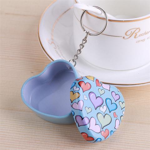 Portable 12 pcs/lot Mini Lovely Round Heart Shape Storage Box with Key Chain,Cute Metal Box for Candy Tea,Kawaii Small Tin Boxes Islamabad
