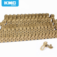 KMC X9 Golden Alloy Iron 9/18/27 Speed Bike Chain MTB Mountain Road Bike Universal Bicycle Chain 116 Links Missing Connect Links