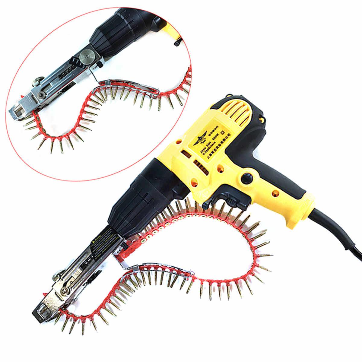 Drillpro Automatische Keten Nail Gun Adapter Schroef Pistool voor Elektrische Boor Houtbewerking Tool Cordless Power Boor Attachment