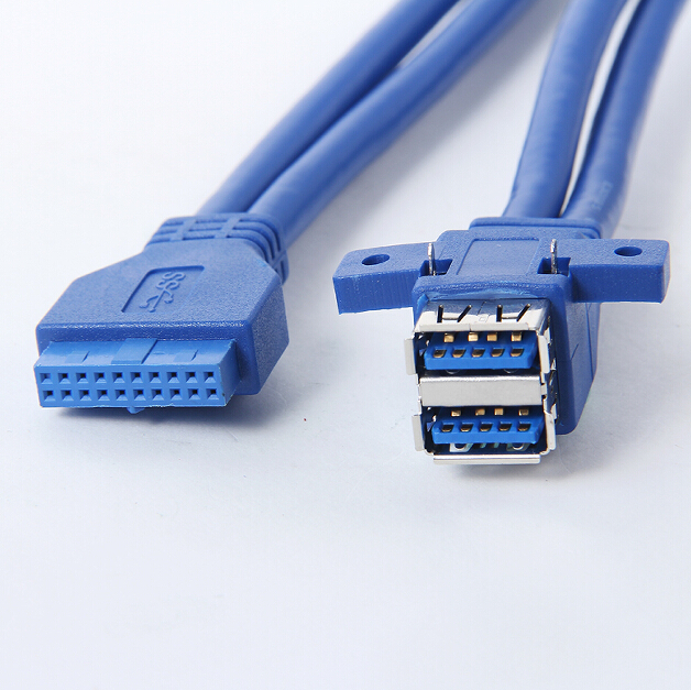все цены на usb 3.0 20 pin female to 2 usb a female Motherboard Mount cable Adapter Connector 1m with screw hole fixed for Asus Msi Onda HP онлайн