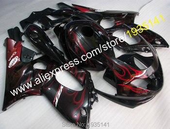 For Yamaha Yzf600R Thundercat 1997~2007 red flame black bodywork kit YZF-600R motorcycle fairing parts 97~07 Yzf 600R