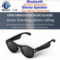 IPX4 gafas de sol impermeables Bluetooth Audio direccional abierto gafas estéreo altavoz Mic para iPhone Huawei Xiaomi gafas inteligentes