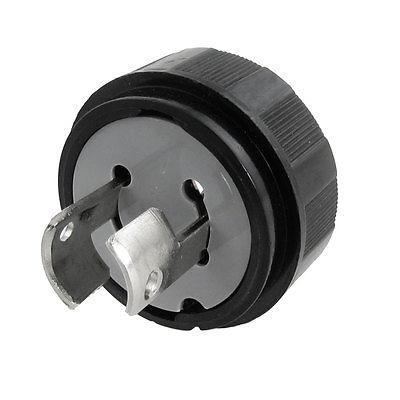 Black LK6220 AC 250V 20A 2 Pin Locking Wiring Plug stinger lk 3250bfl